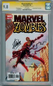 Marvel Zombies #1 First Print 2006 CGC 9.8 Signature Series Signed Stan Lee Arthur Suydam